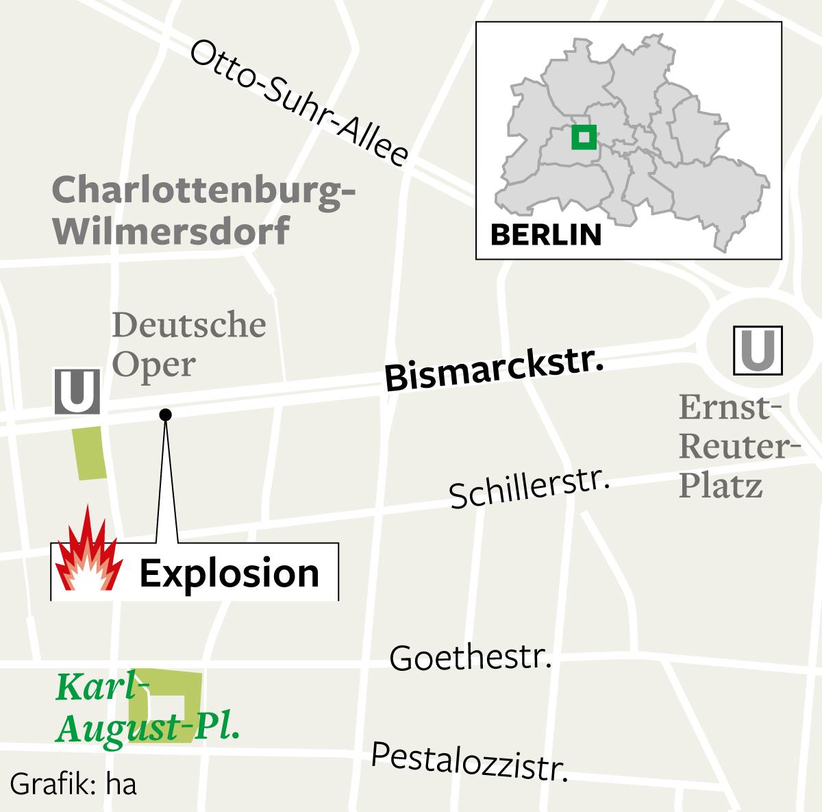 Explosion an der Bismarckstraße