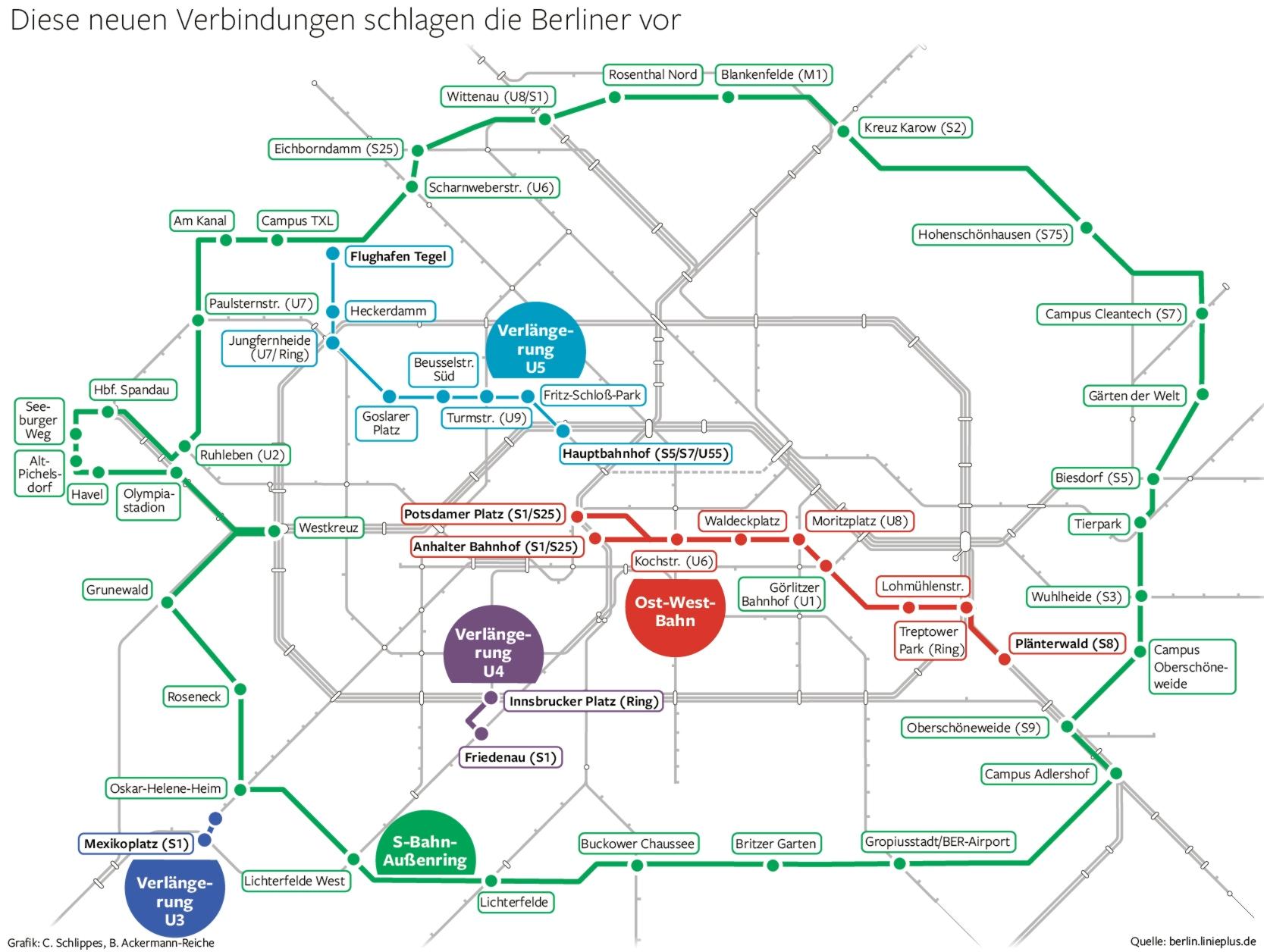 Der Wunsch Fahrplan Der Berliner Für Die U Und S Bahn Berlin