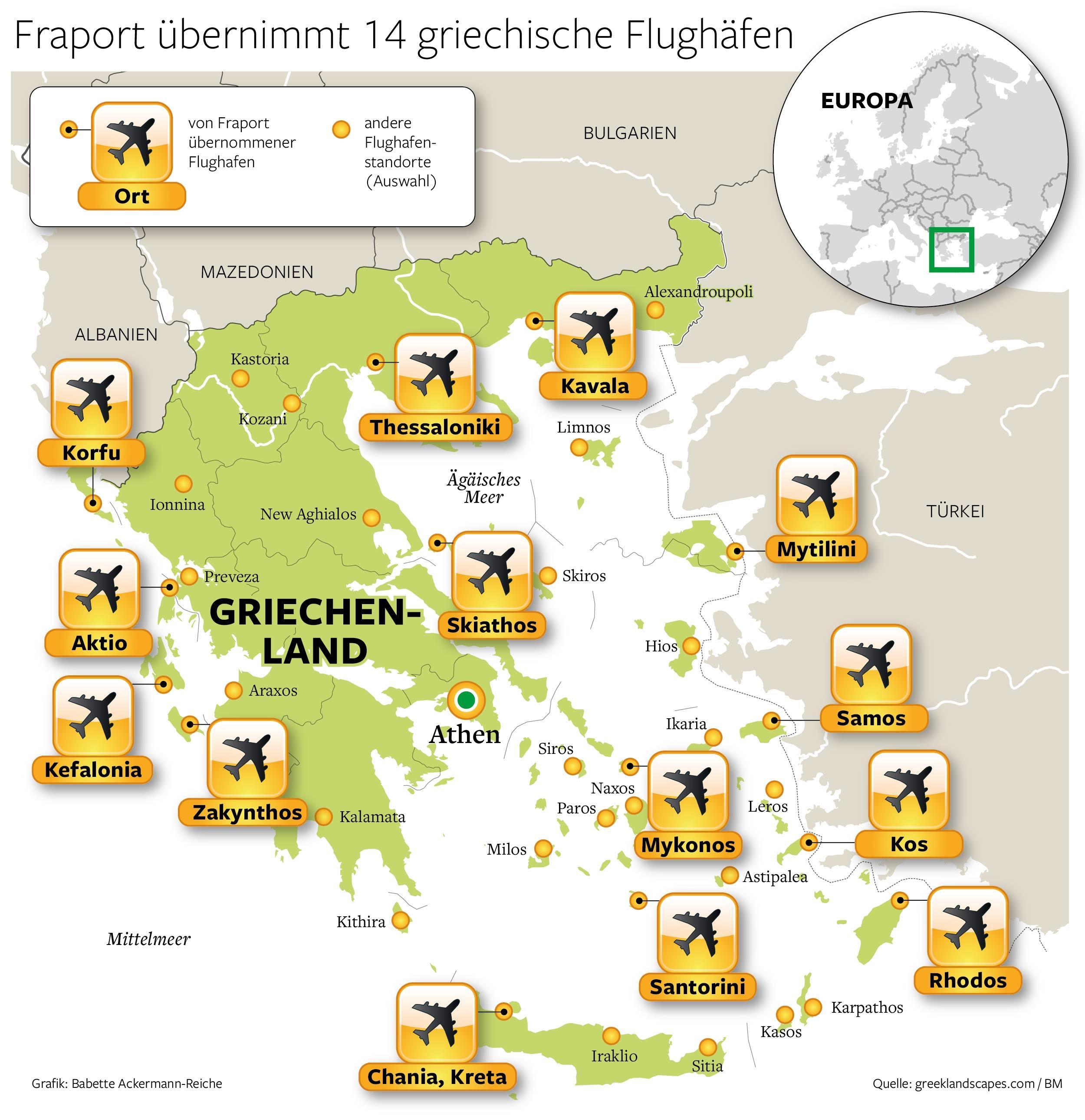 Rhodos Karte Flughafen.Griechenland Verkauft Flughäfen An Deutsche Fraport Wirtschaft