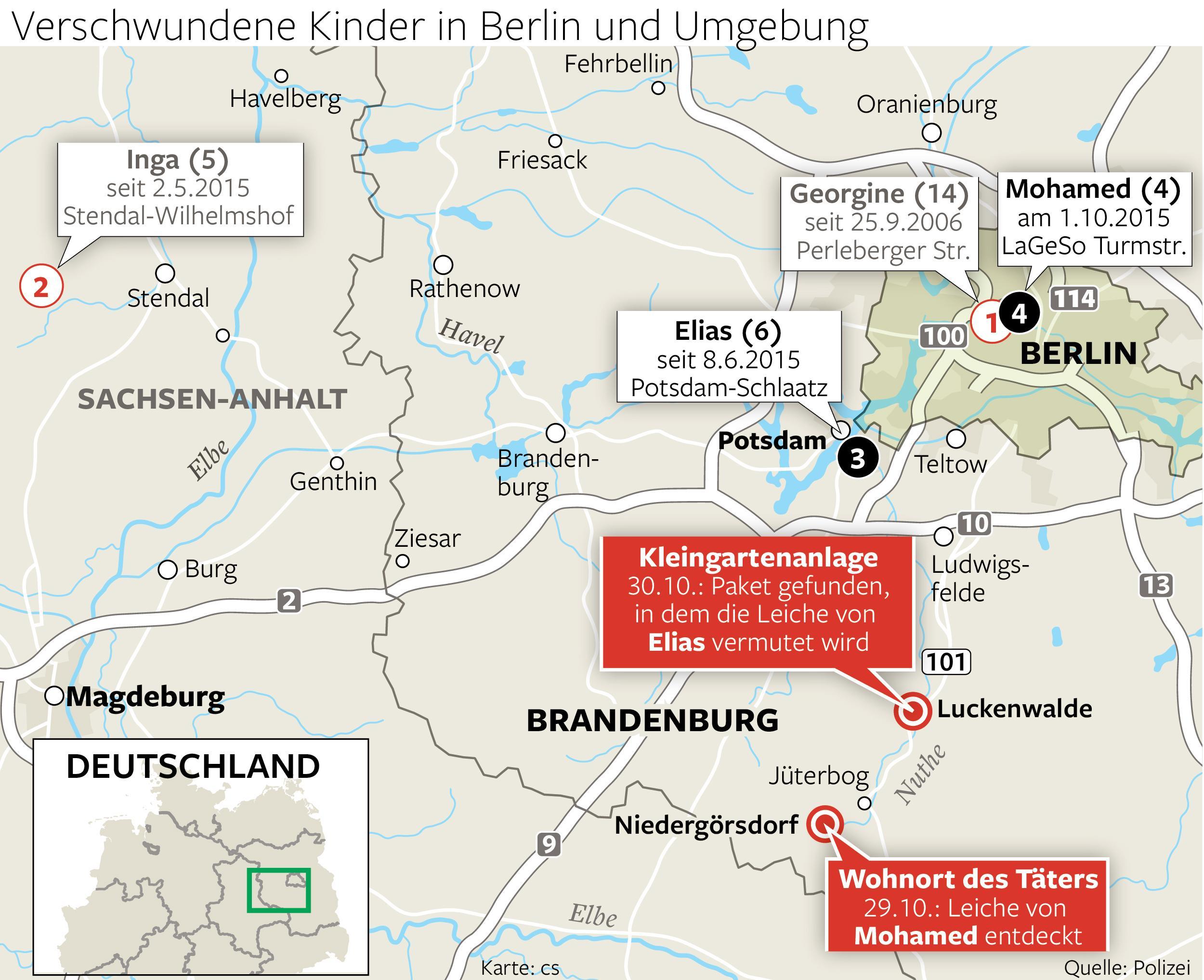 Verschwundene Kinder in Berlin und Umgebung