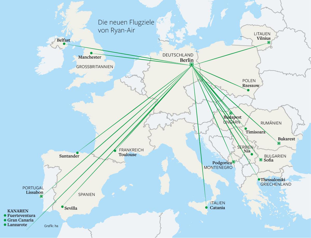 Ryanair Fliegt 19 Weitere Ziele Ab Berlin An Berlin