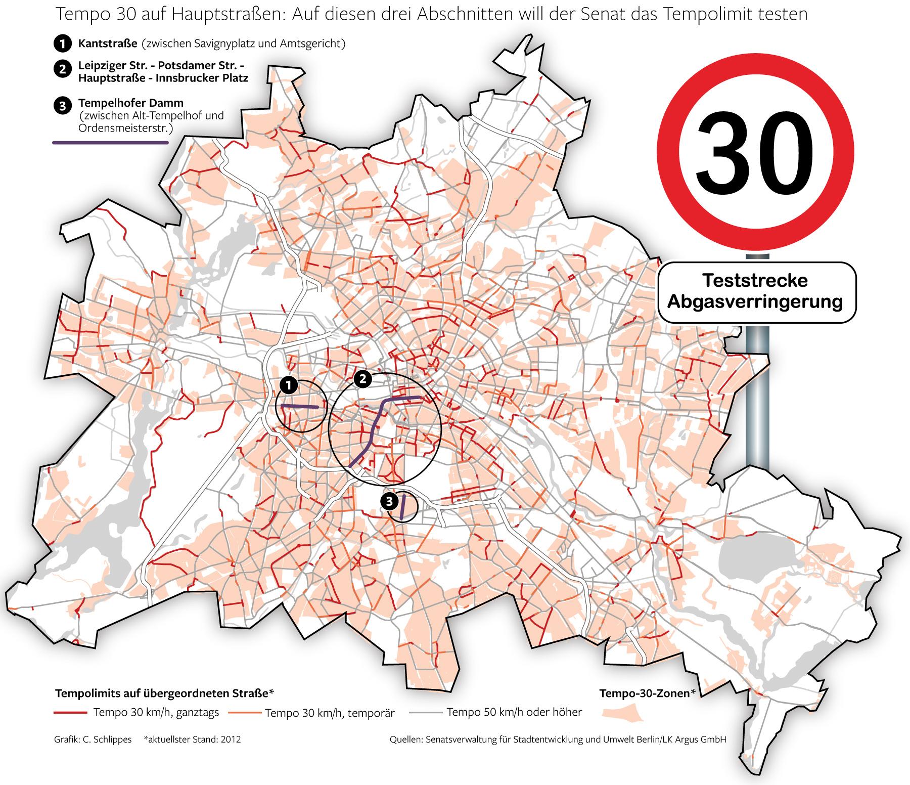 Tempo 30 in Berlin
