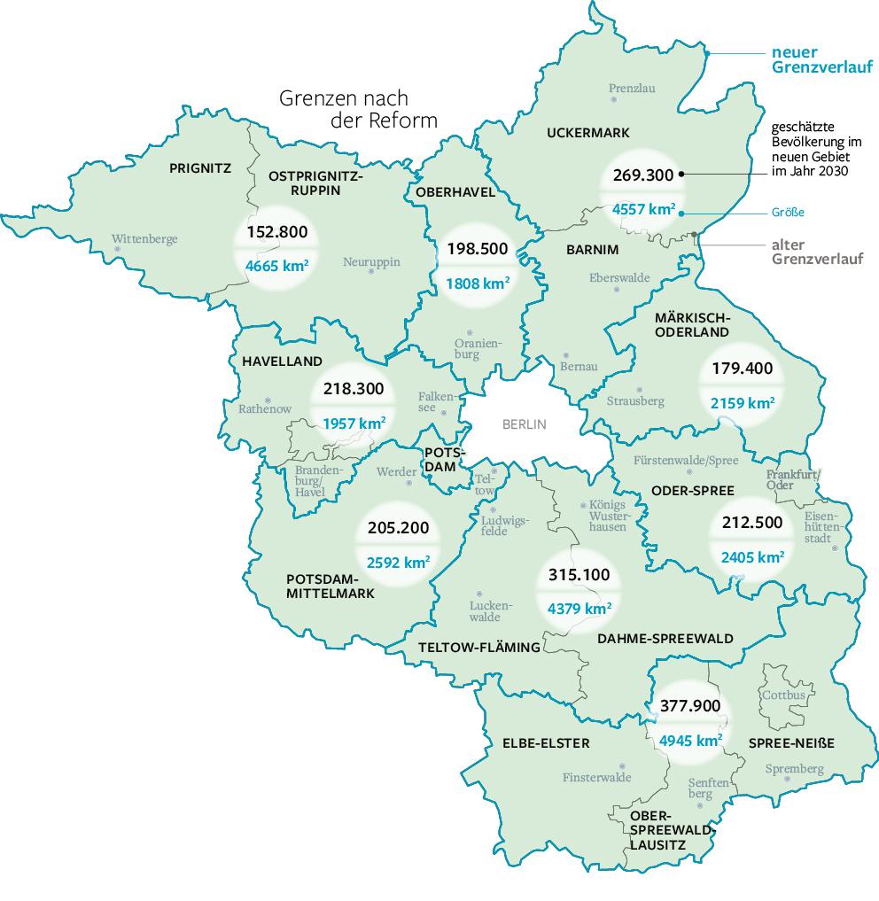 Land Brandenburg Karte.Nur Noch Neun Statt 14 Landkreise In Brandenburg Brandenburg