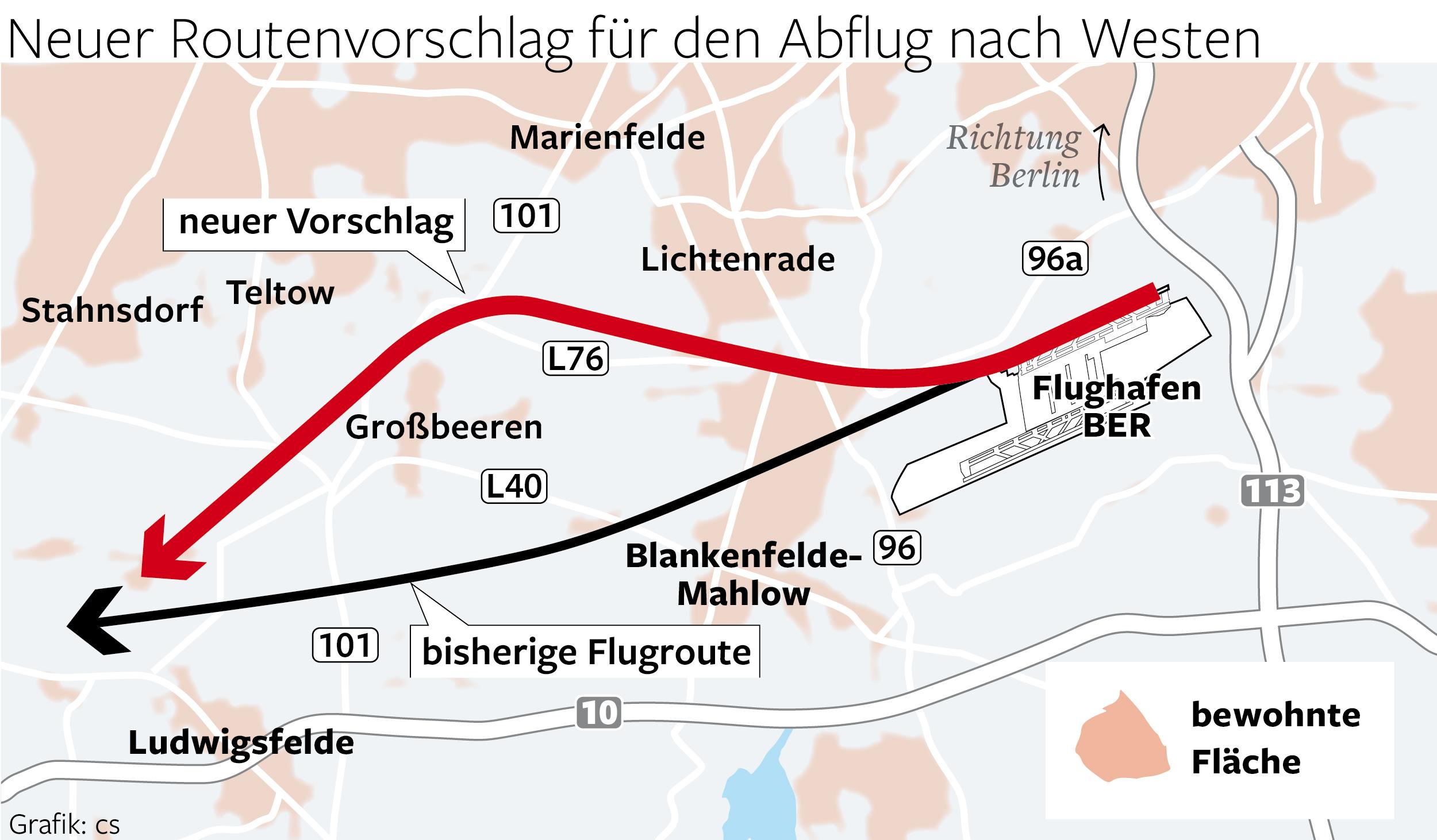 Vorschlag neue Flugroute