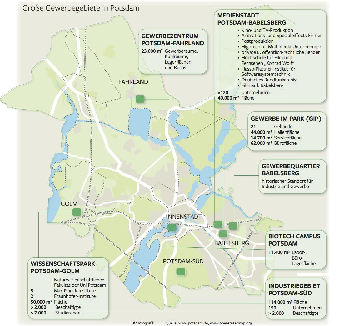 Historische Karte Potsdam.Potsdam Hat Keinen Platz Mehr Fur Gewerbe Brandenburg