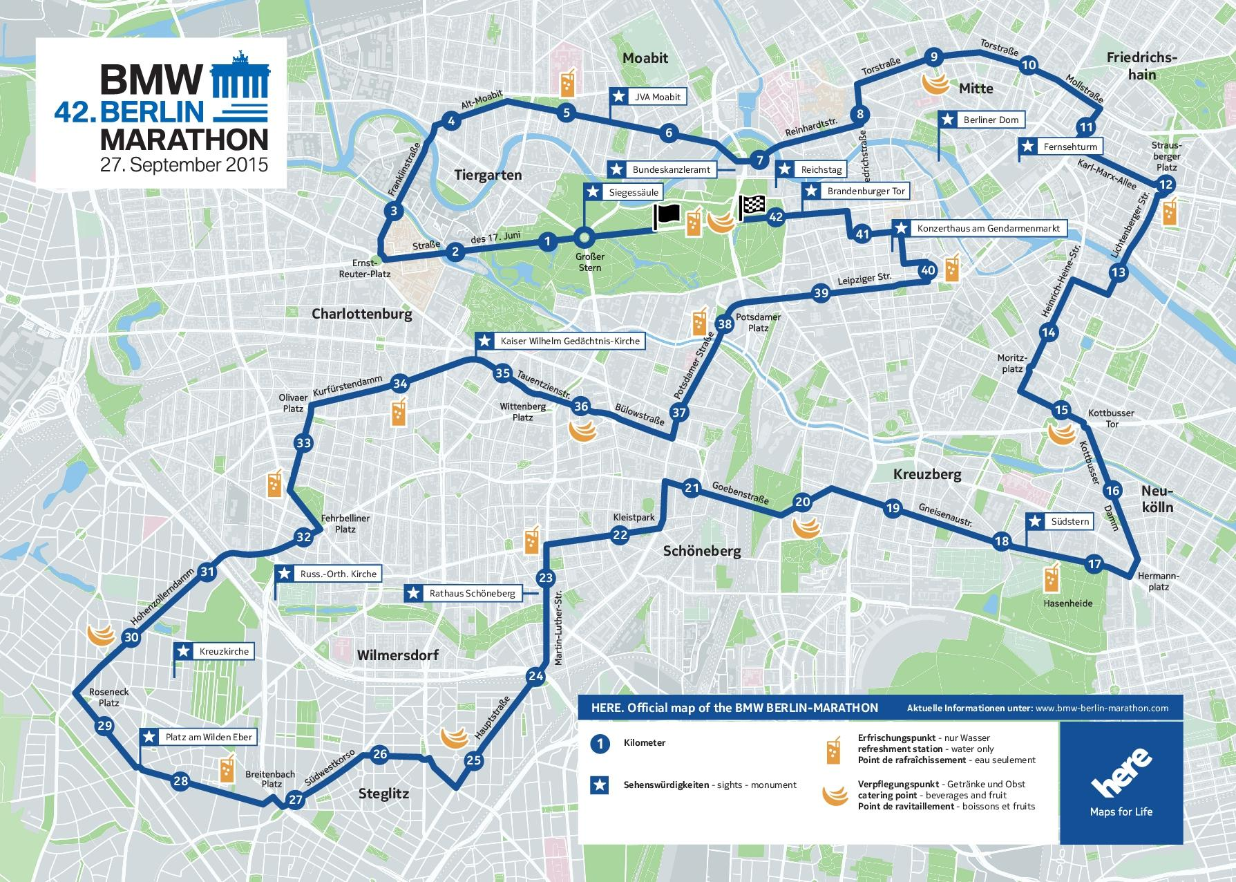 Strasensperrungen Zum Berlin Marathon Berlin