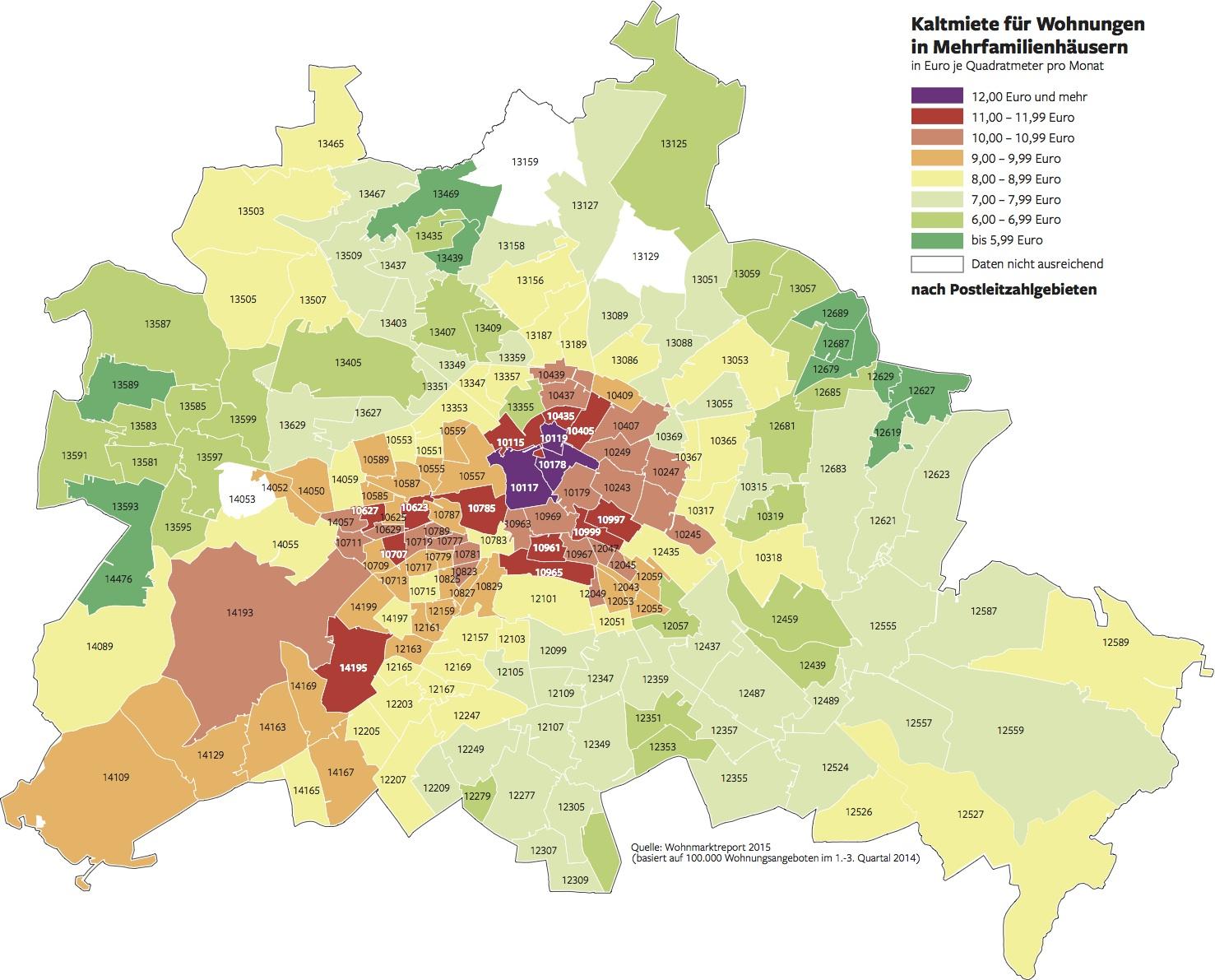 Mieten in Berlin – Was Berliner Mieter zahlen müssen