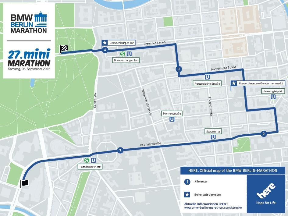 Streckenverlauf Mini-Marathon