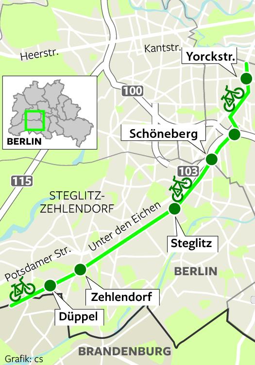 Fahrrad-Schnellweg in die City