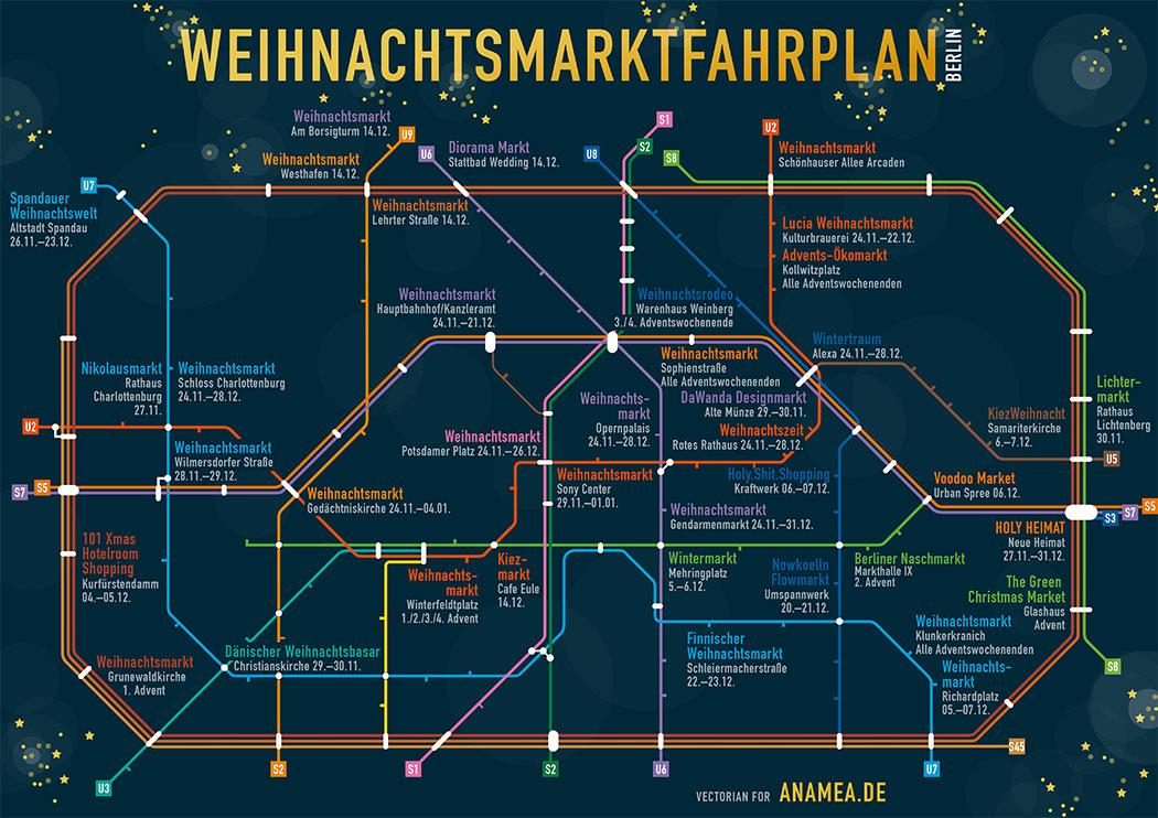 Die Berliner Weihnachtsmärkte Auf Dem U Und S Bahn Netz Berlin